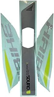 adesivo per batteria yamaha grigio+verde fluo+nero lucido e-bike sduro Haibike E