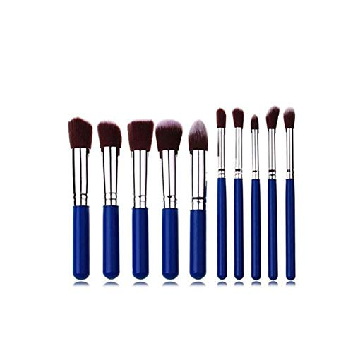 Sets de pinceaux de Maquillage Pinceau de Maquillage 5 Big 5 Petit Pinceau de Maquillage Cadeau Cadeau Brosse 10 pièces Outils de Maquillage Brosse de Maquillage Portable Bleu (Taille : Blue)