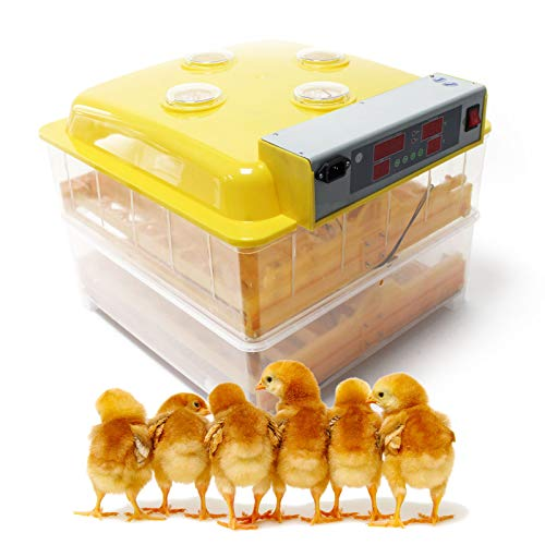Incubadora automática 96 Nacedora Criadero Control Temperatura Incubación Aves