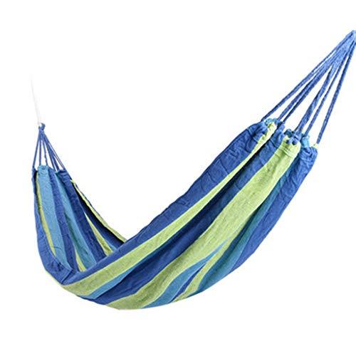 WXGM Épaississement Simple de Camping d'hamac, Voyage extérieur de Sac à Dos d'intérieur, portatif (Couleur : Bleu, Taille : 280×190CM)