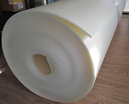1/4' x 30' x 60' Craft Foam Roll End Hi Dense Closed Cell Foam Uphol Crafting Foam Craft Supplies Vibration Dampening Sculpting Off White 1Pcs