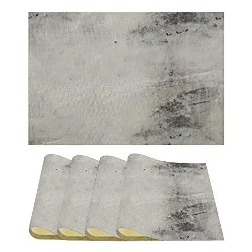 Juego de 4 manteles Individuales Resistentes al Calor Manteles Individuales reciclados Abstractos Grunge
