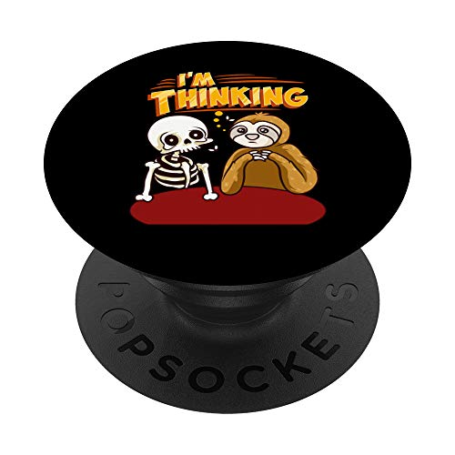 Waiting Skeleton Thinking Meme Dead PopSockets Grip and Stand for Phones and Tablets