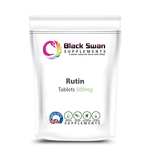 Black Swan Rutin 500 mg Tablets – with High Anti-oxidant and Anti-inflammatory Properties – Healthy Skin – Blood Pressure Level – Cholesterol Level – Joint Health (60 Tabs)
