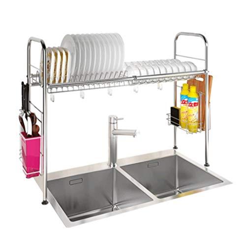Qiutianchen Edelstahl Geschirrträger Spüle Abflussregal Küchengestell liefert Geräte Lagerregal Küchenregal (Color : D)