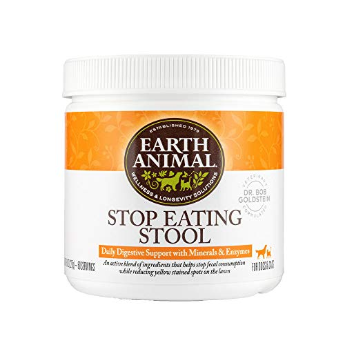 Earth Animal Stop Eating Stool Nutritional Supplement for Dogs & Cats  8 oz. Container