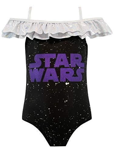 Star Wars Costume da Bagno per Ragazze Nero 10-11 Anni
