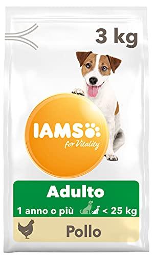 Iams for Vitality alimento Secco per Cani Adulti di Taglia Piccola e Media con Pollo - 3 kg