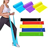 MTZRFLL Resistance Bands Exercise Loops Set for Strength Training, Physical Therapy, Yoga, Pilates, Stretching, Home Fitness, 5 Latex Elastic Exercise Strap and 3 Workout Bands - Set of 8