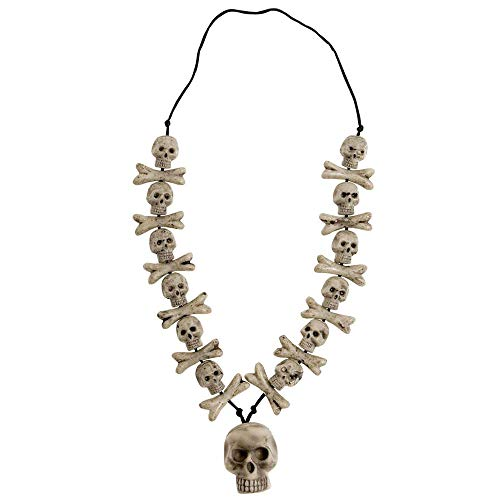 Skulls & Cross Bones Necklaces Halloween Jewellery for Fancy Dress Costumes Accessories Accessory