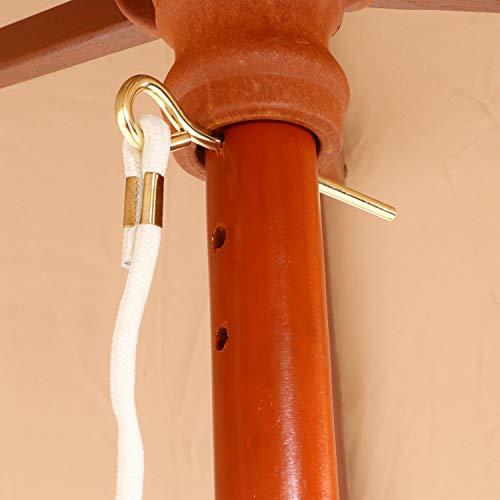 不二貿易木製パラソル直径210cmアイボリー60157