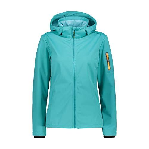 CMP Damen Softshelljacke Woman Jacket Zip Hood 39A5016 Ceramic 48