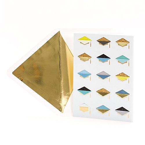 Hallmark Signature Money Holder or Gift Card Holder Graduation Card (Glitter Foil Graduation Caps) (699GGJ6472)