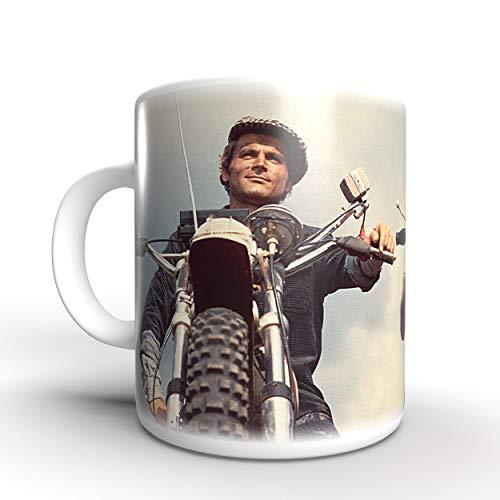 Terence Hill Zwei wie Pech und Schwefel - Motorräder Bud Spencer - Tasse rund (330ml)