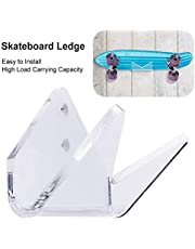 Lolly-U - Soporte de pared para monopatín, resistente y de alta carga, soporte para tabla de snowboard, acrílico transparente