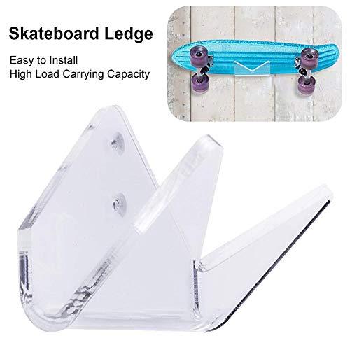 G-wukeer Wand-Halter Wand-Halterung Für Skateboard Longboard Pennyboard, Vertikal, Horizontal, Transparent