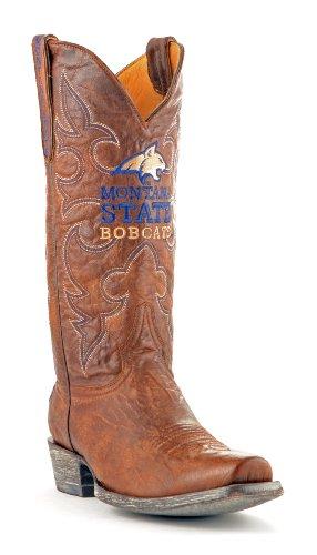NCAA Montana State Bobcats Herren Boardroom Style Boots, Herren, MT-M236, Messing, 10 D (M) US