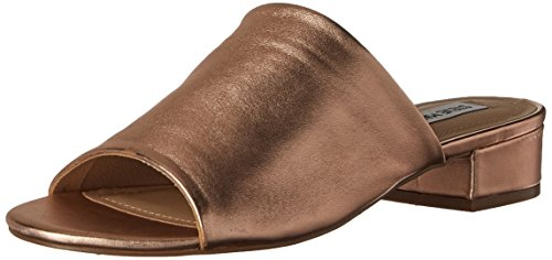 Steve Madden Women's Briele Flat Sandal, Rose Gold, 6.5 M US