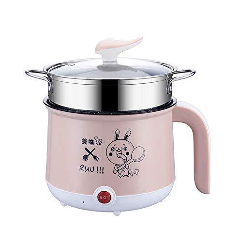 WPCBAA Mini 1-2 Personas Antiadherente Cocina eléctrica Pan Multifunción Hogar Huevos cocidos Caldera Vapor Tortilla de Leche Sopa de Leche