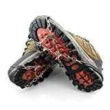 Thorityau - Crampón para zapatos | tacos antideslizantes | Universal hielo, tracción para montañismo, senderismo, caza, jogging, escalada en nieve
