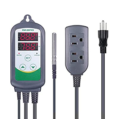 Inkbird ITC308 Temperature Controller Heating and Cooling Thermostat