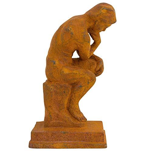 aubaho Skulptur Denker nach Rodin Eisen Figur Statue Garten Antik-Stil Replika Kopie
