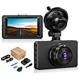 Dashcam【2020 New Version】Dash Camera for cars 1080P Full HD DVR Dashboard Camera 3'IPS Screen Driving Recorder 170°Wide Angle Lens Night Vision G-Sensor Loop Recording Motion Detection Parking Monitor
