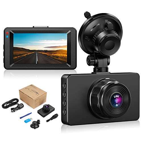 "Dashcam【2021 New Version】Dash Camera for cars 1080P Full HD DVR Dashboard Camera 3""IPS Screen Driving Recorder 170°Wide Angle Lens Night Vision G-Sensor Loop Recording Motion Detection Parking Monitor"