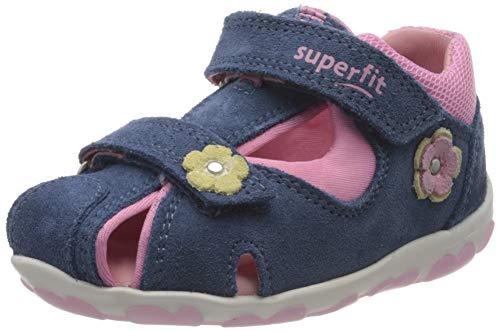 Superfit Baby Mädchen FANNI Sandalen, (Blau/Rosa 80), 19 EU