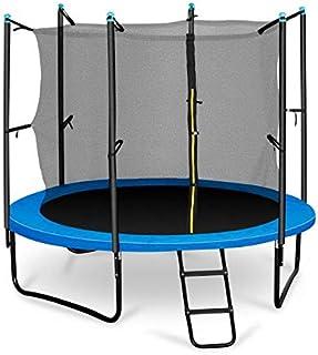 comprar comparacion Klarfit Rocketboy 250 Cama elástica trampolin con Red de Seguridad (Superficie Base 250 cm diametro, sujecion 3 Patas Dobl...