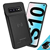 newdery cover batteria per galaxy s10, 4700mah custodia ricaricabile cover caricabatterie batteria esterna battery case per samsung galaxy s10 batteria power bank charger case