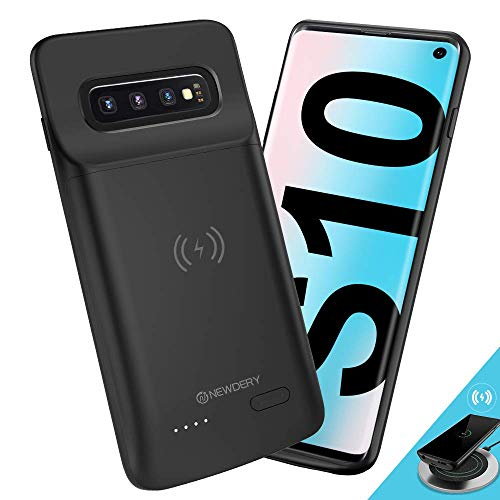 NEWDERY Cover Batteria per Galaxy S10, 4700mAh Custodia Ricaricabile Cover Caricabatterie Batteria Esterna Battery Case per Samsung Galaxy S10 Batteria Power...