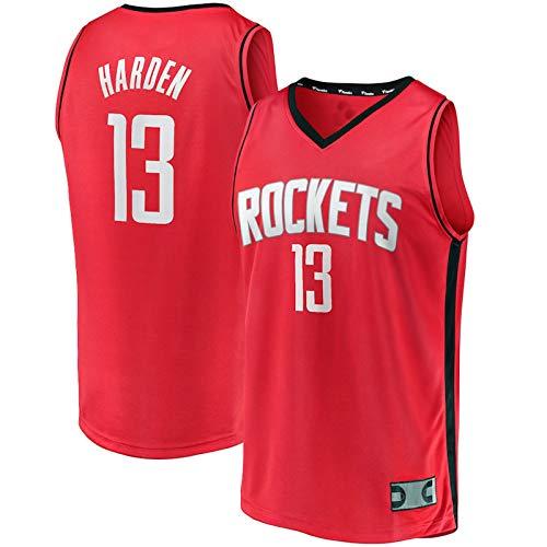 WEVB Camiseta de baloncesto para niños, n.º 13, color rojo, para jóvenes, Réplica de jugador, transpirable, informal, para niños, edición de iconos