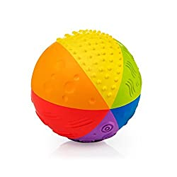 Pure Natural Rubber Sensory Ball Rainbow 4""