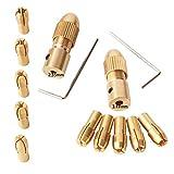 GTIWUNG 14 Pezzi 0.5-3mm Mini Drill Mandrini, 3.17mm/2.35mm Micro Trapano Pinze, Morsetto ...