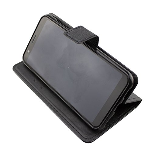 caseroxx Tasche für Gigaset GS185 Bookstyle-Hülle in blau (Bookstyle- Hülle mit & ohne Bildschirmschutz) (Bookstyle- Tasche mit Bildschirmschutz, schwarz)
