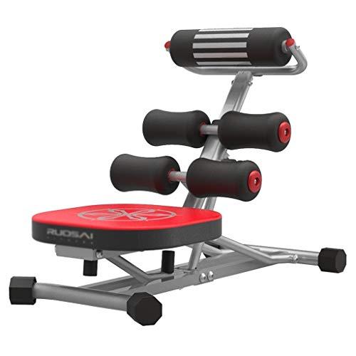 Qazxsw Multifunktionswerkbank, Workout Bauch Brett Gewichte Bank Faltbare Bench Press Fitnessgeräte zu Hause Belastbar bis 370kg,Rot,18 * 32 * 76cm
