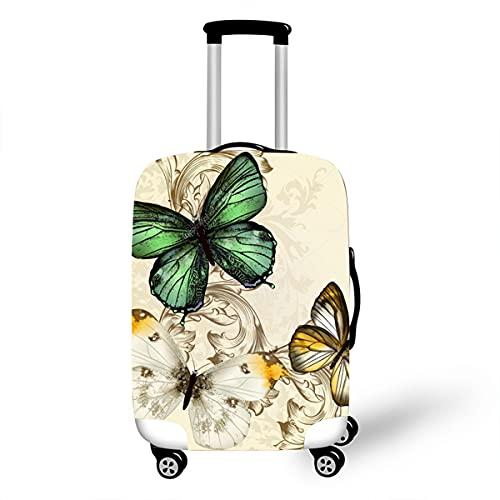 Surwin 3D Elastica Proteggi Valigia Suitcase Luggage Cover Coperchio di Protezione Antipolvere Lavabile Copertura Viaggio Proteggi Bagagli Coprire (Motivo beige,S (18-20 pollici))
