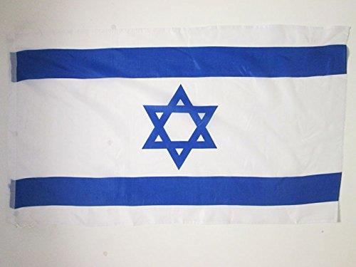 AZ FLAG Flagge Israel 150x90cm - ISRAELISCHE Fahne 90 x 150 cm Scheide für Mast - flaggen feiner Polyester