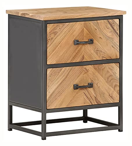 NIGHTSTAND BEDSIDE CABINET 15.7X11.8X19.7 SOLID ACACIA WOOD