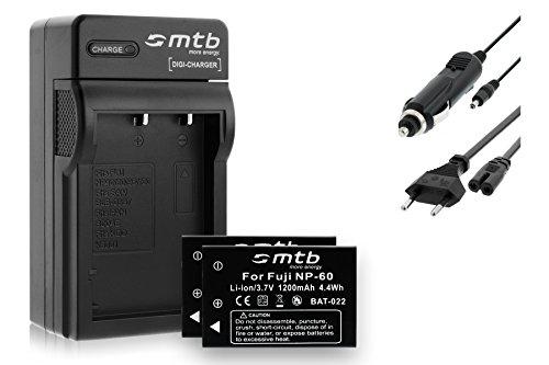 2 Akkus + Ladegerät (KFZ, Netz) für NP-60 / Medion/Rollei/Praktica/BenQ/Jay-tech Siehe Liste
