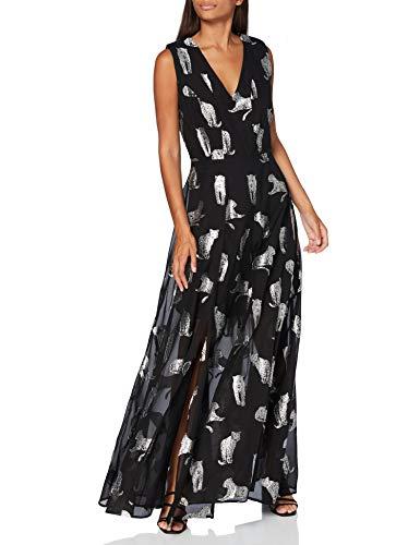 Silvian Heach Long Dress Fresi Vestito, Nero (Black/Wht Black/Wht), Medium (Taglia Produttore:M) Donna