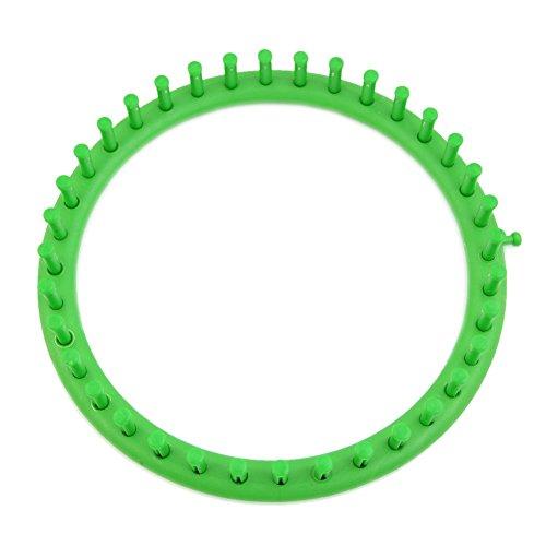 TOOGOO(R) 24cm Verde Maquina tejedora de sombrero del circulo redondo clasico Juego de telar de punto tejido