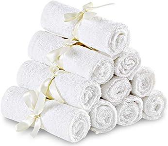 Utopia Towels - Pack de 10 toallas de bambú orgánico para bebés - Toallas faciales ultra suaves de primera calidad (25 x 25 cm toallitas reutilizables)
