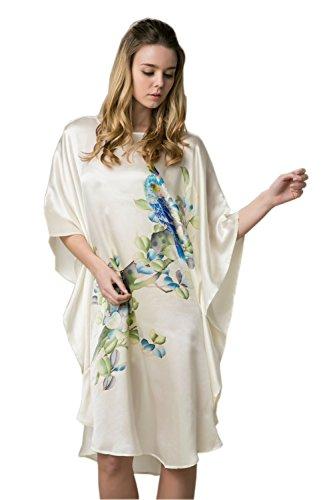 Prettystern dames zijden kimono nachtjapon handgeschilderd schilderij van Azië