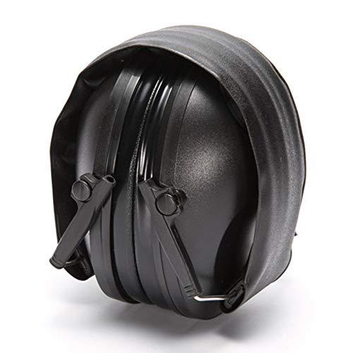 JesseBro76 Auriculares de Tiro táctico Plegables con cancelación de Ruido Ajustable Orejera Negro