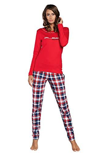 Italian Fashion IF Pijamas de Mujer para Mujer | Traje de Dormir de algodón | Escote Redondo | Ropa de Diario | Ropa de Dormitorio de Dos Piezas 2021