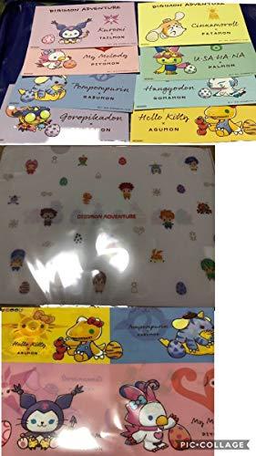 デジモン サンリオ ポストカード 8種類 コンプリート クリアファイル 2種類 特典