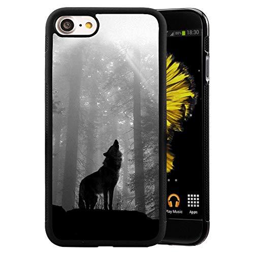 GOADK iPhone 7/8/se 2020 Case, All-Inclusive Camera, Anti-Fall and Anti-Slip Phone Case (Wolf)