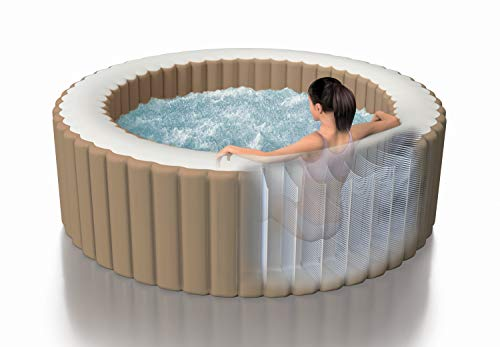 Intex Whirlpool Pure SPA Bubble Massage - Ø 196 cm x 71 cm, für 4 Personen, Fassungsvermögen 795 l, beige, 28426